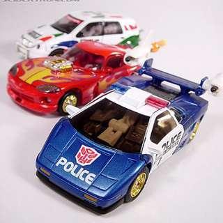Rare Vintage Transformers 2000 Car Robots Takara TF2000 C-022 C-023 C-024 Super Car Brothers Alternity Speedbreaker, Wildride, Mach Alert - MIB