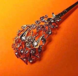 Gold Nyonya Cucuk Sanggol (Hairpin) - Costume Jewellery