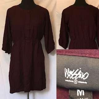 PF- Casual maroon dress
