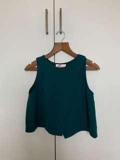 Forest Green Basic Top