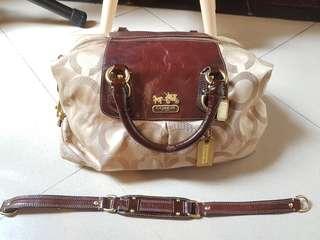 Coach handbag leather preloved second bekas