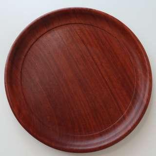 Handmade solid wood plate from Burma Myanmar
