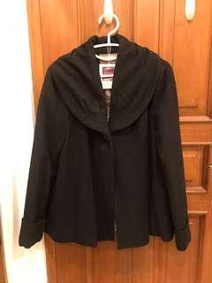 Forever21 Black Coat Jacket Outerwear Size S