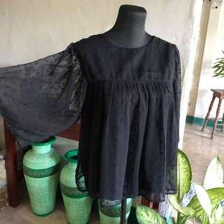 Mango black blouse