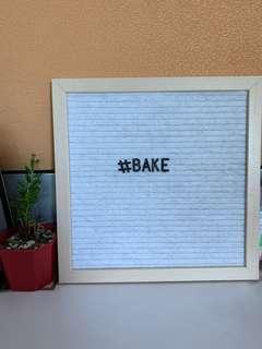 White Letter Board