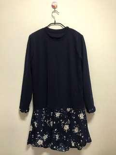 🚚 全新 正韓貨 長版上衣 (小個兒可當洋裝)3月初韓國購入 這件原價韓幣25000約台幣600多