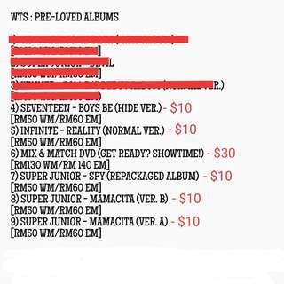 [Pre-Loved K-POP Albums]