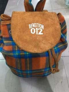 Benetton wool backpack