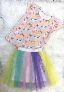 🚚 Unicorn Tshirt with Tutu Skirt