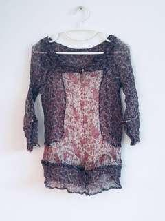 Zara 100% Silk beach Top size S-M