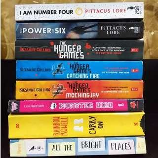 Preloved English Novels For Sale (YA)