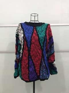 XL Colourful Knitted
