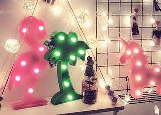🚚 「90元椰子樹裝飾燈」#一百均價