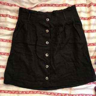 ASOS Black linen skirt