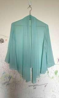 Loose cardigan chiffon transparent
