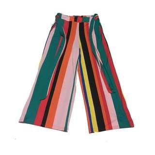 Forever 21 Striped Wide Culotte Pants
