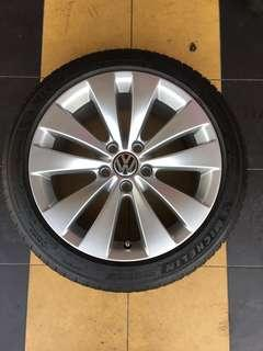 Used Michelin PS4 with Volkswagen Rims