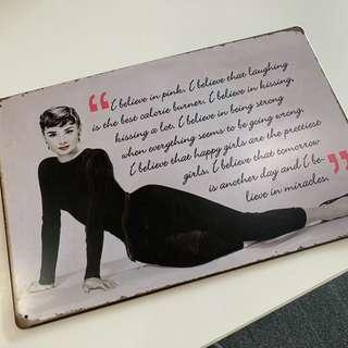 Audrey Hepburn Decorative Plate