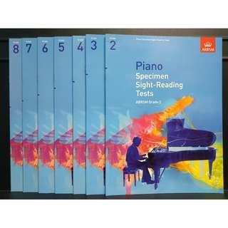 ABRSM 鋼琴考試視奏練習 PIANO EXAM SIGHT READING SPECIMEN 2-8級