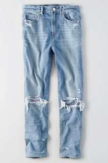 AE mom jeans size 0 -Short