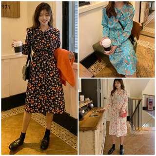 Women Soft Floral Midi Dress