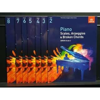 ABRSM 鋼琴考試 PIANO EXAM SCALES AND ARPEGGIOS 音階練習 2-8級