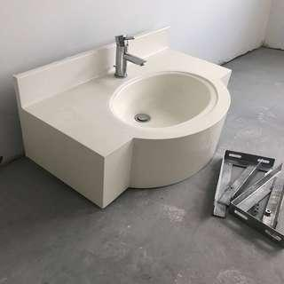 New BTO bathroom sink with tap