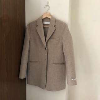 90%羊毛 手工西裝外套 韓國帶回/超級保暖