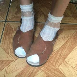 🚚 真皮森林系日系皮涼鞋休閒鞋