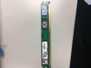 Kingston 金士頓 2G DDR2 800 240pin ( KVR800D2N6/2G )桌上型記憶體