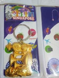 Gold design Singapore key chain