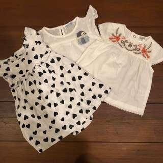 Carters H&M Tops 6 months