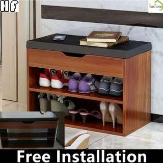 🚚 Shoes rack/Storage stool/80 or 60cm/Type A(Brown,White)