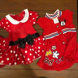 BNew Disney Dresses 6m and 12m