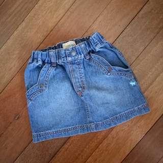 Giordano denim maong mini skirt