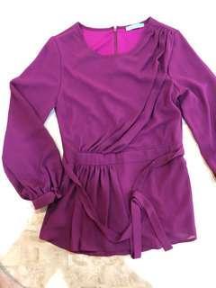 Poplook Purple Blouse
