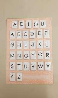 Learning Alphabet; DIY ; ABC Chart