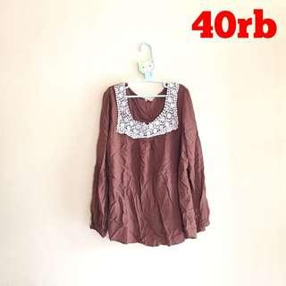 SALE! BLOUSE COKLAT