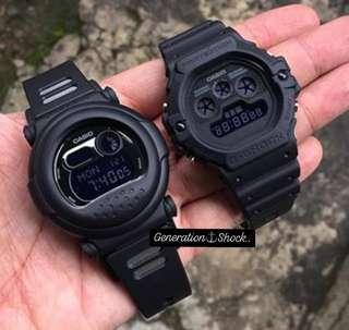 🚚 COUPLE💝PAIR SET in GSHOCK DIVER SPORTS WATCHES : 1-YEAR OFFICIAL WARRANTY: 100% Original Authentic G-SHOCK : Best For Most Rough Users & Unisex: G-001BB-1 + DW-5900BB-1 / CASIO / GSHOCK / BABYG / WATCH
