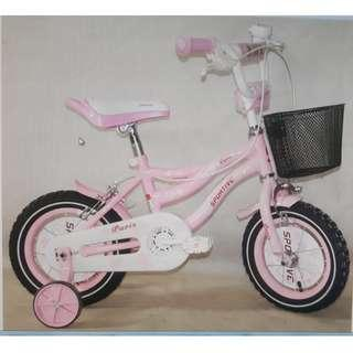 """PARIS 12,14,16,18"""" Kids /Girl Bike from $119. Brand new bicycles. *Pre-order and get within 1 week. *18"""" Out of stock. ETA: mid April."""