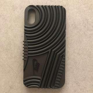 Nike black iPhone X hard case 黑色硬電話殼