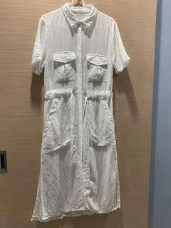 🚚 #便宜出清⚠️#正韓襯衫式長洋裝