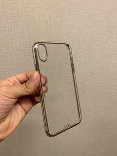 iPhone xr電鍍邊框 銀