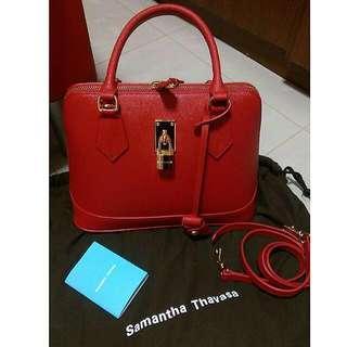 🚚 Genuine Samantha Thavasa Leather 2-WAY bag lady AZEL