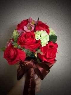 絲花花球 紅色花球