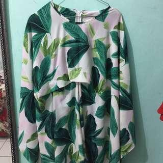 Leaf kaftan tunic