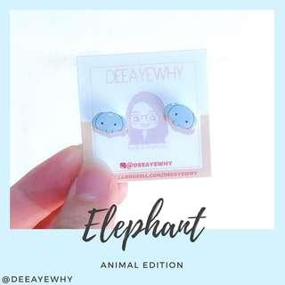 Elephant Ear Studs Plastic