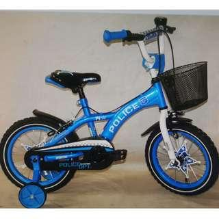 """POLICE 12,14,16,18"""" Kids Bike from $119. Brand new bicycles. *Pre-order and get within 1 week. *12"""" Out of stock. ETA: mid April."""