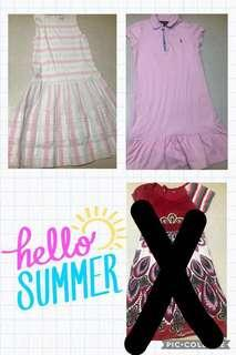 Two Preloved dresses (pink Polo Ralph)