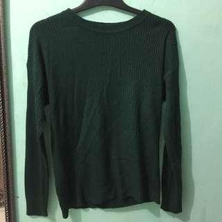 Sweater green army